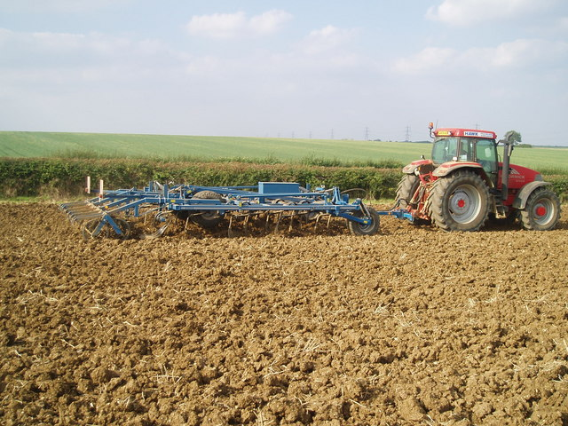 Post harvest cultivation - geograph.org.uk - 1223870
