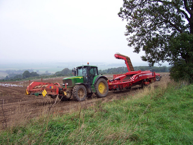 Potato Harvest Machine http://commons.wikimedia.org/wiki/File:Potato_Harvesting_Machine_-_geograph.org.uk_-_260572.jpg