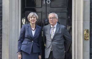 Prime Minister Theresa May met with President Jean-Claude Juncker of the European Commission