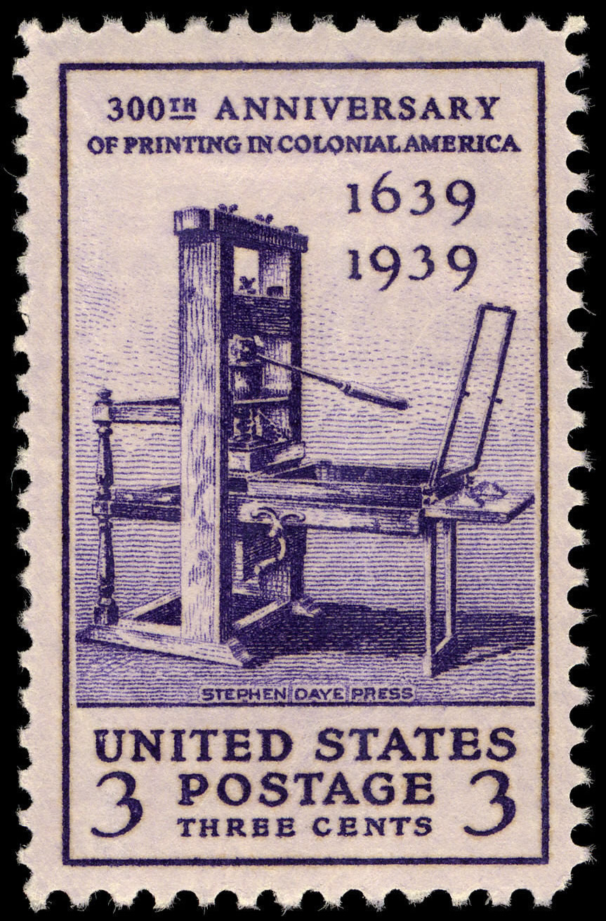 image relating to Printable Postage Stamps referred to as History:Printing Tercentenary 3c 1939 make a difference U.S. stamp.jpg