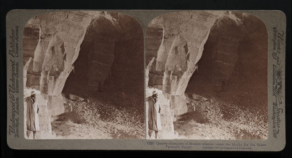 Quarry chambers of Masara whence came the blocks for the Great Pyramid, Egypt. (30) (1904)