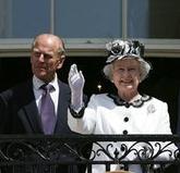 Elisabet II al costat del seu consort, Felip d'Edimburg