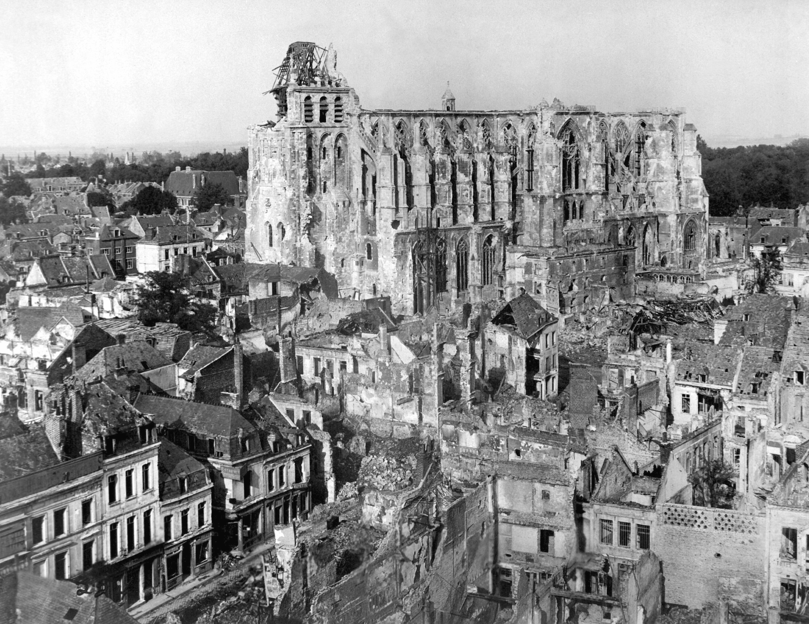 St Quentin Cathedral in Ruins