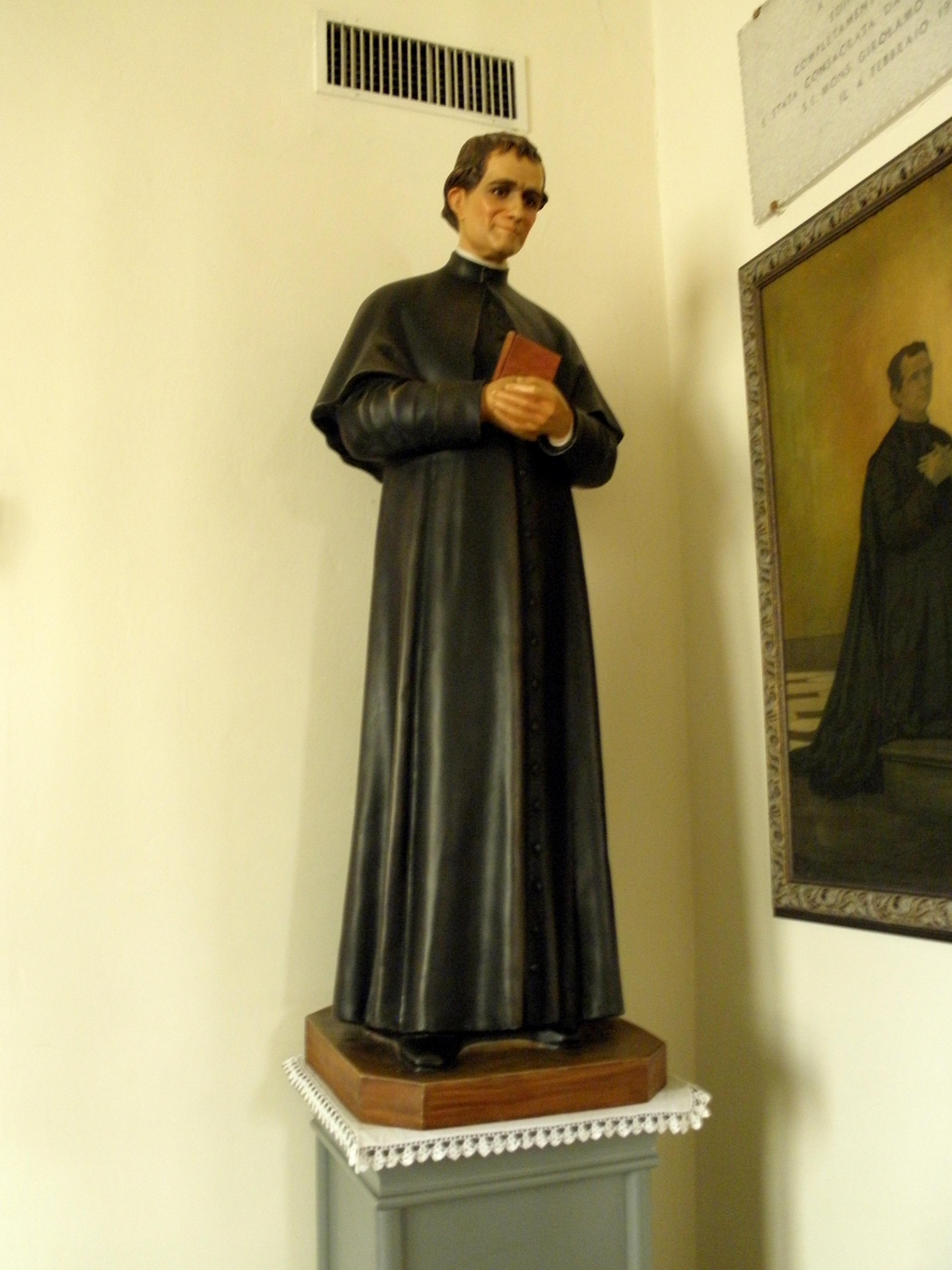File San Martino Vescovo Interno Statua San Giovanni Bosco Pianiga Jpg Wikimedia Commons