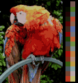 Screen color test GameboyColor 32colors.png