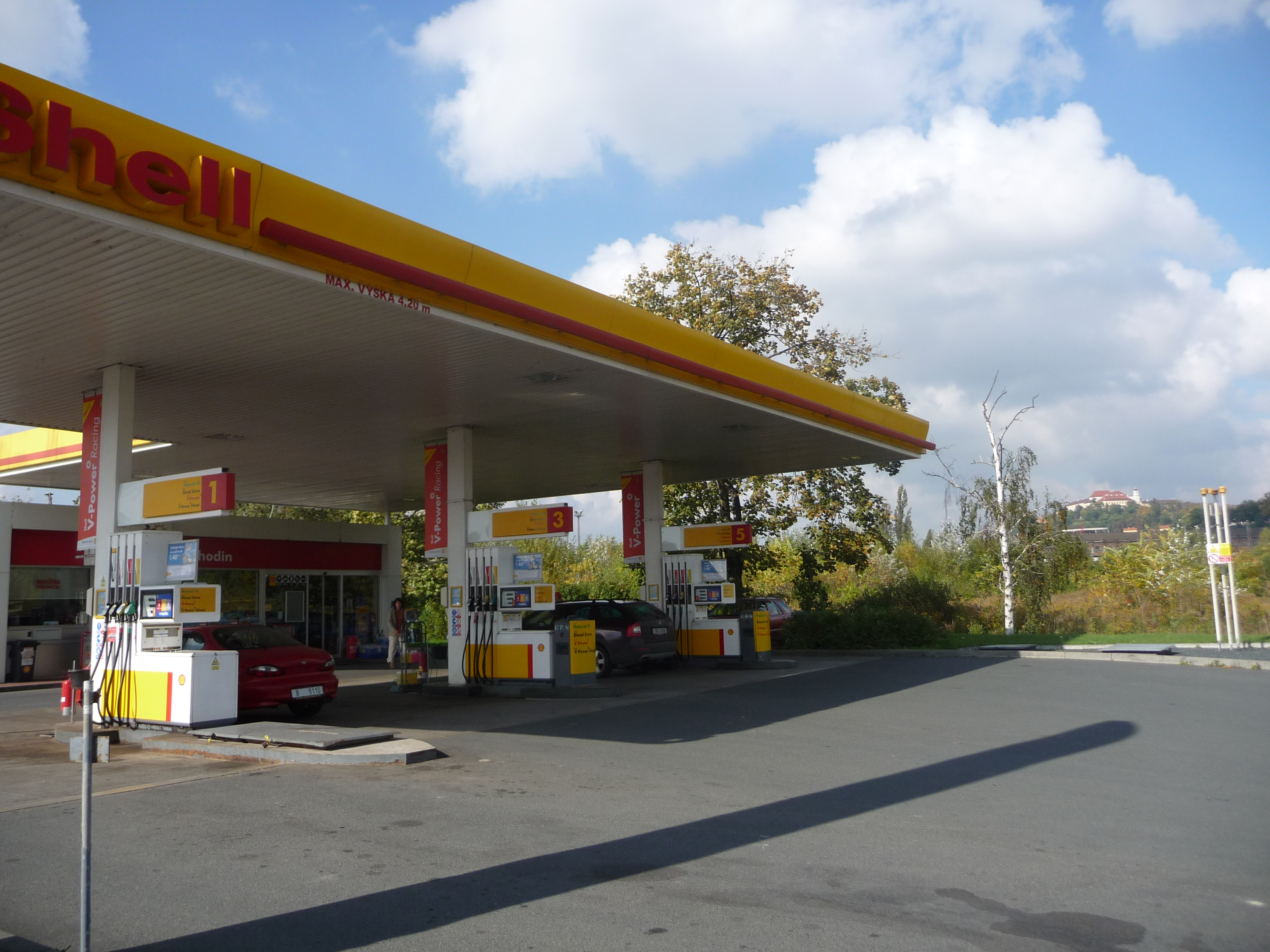Shell Gas Station Before Rhode Island