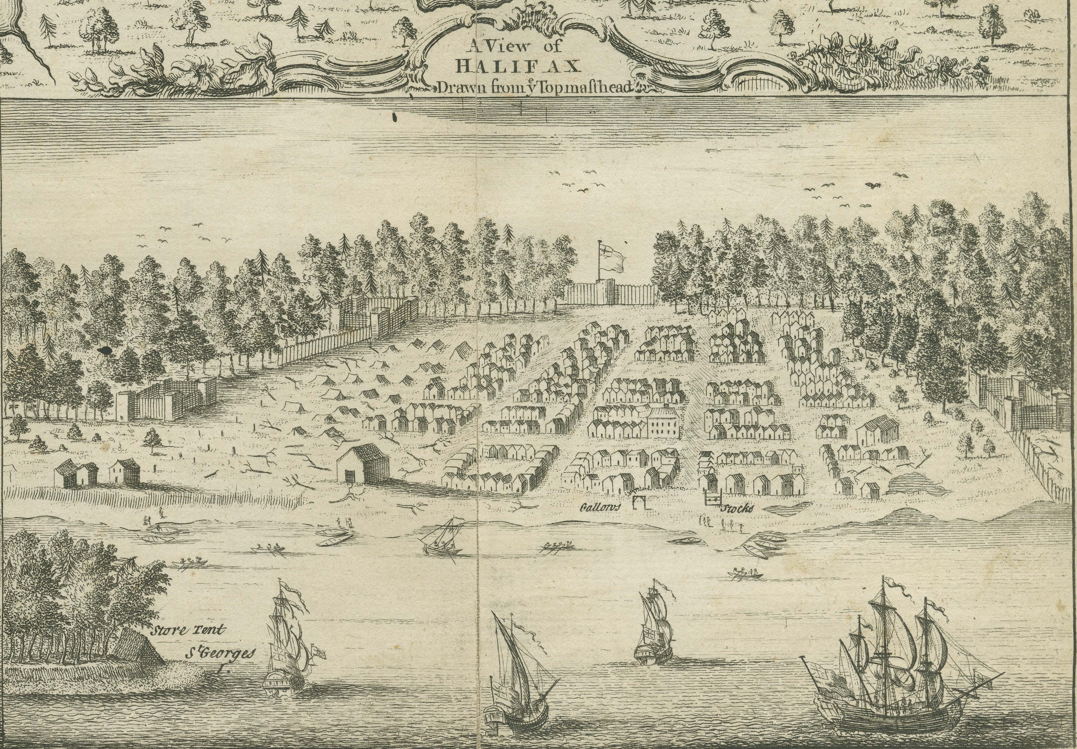 File Sketch Of Halifax Nova Scotia Canada 1749 Jpg