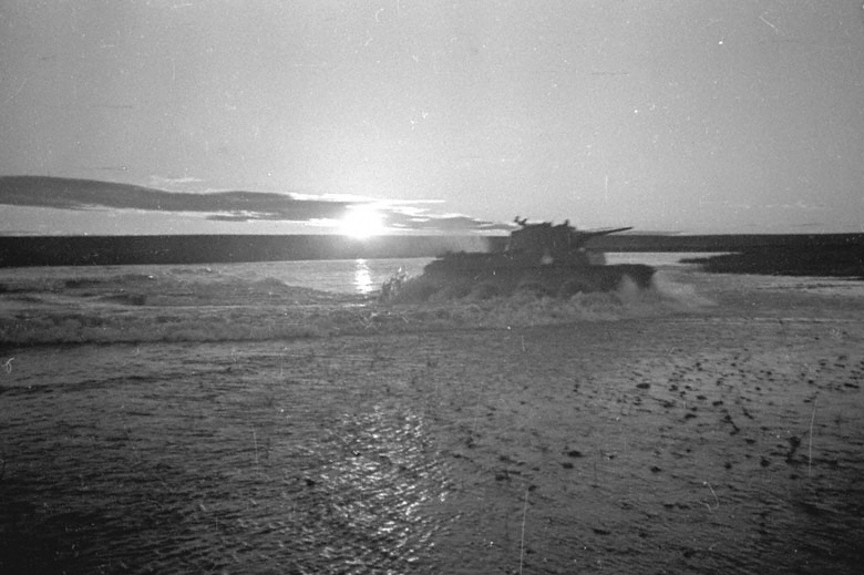 Soviet tanks cross Khalkhin Gol river 1939.jpg