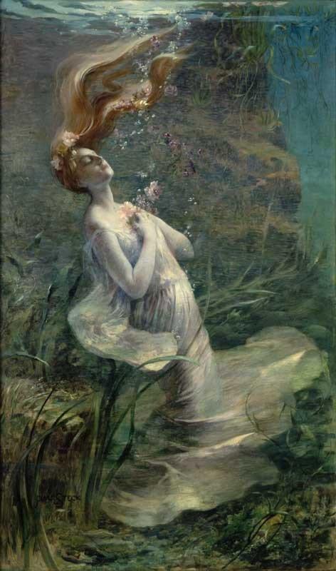 Paul Albert Steck, Ophélie, vers 1894, huile sur toile, Petit Palais, musée des Beaux-Arts de Paris