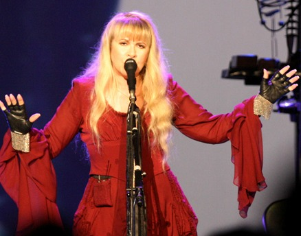 Nicks performing with Dave Stewart in November 2011 Stevie Nicks Performing.jpg