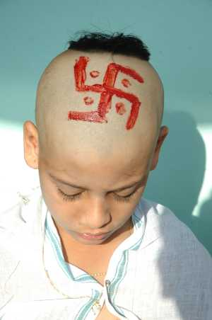 File:Swastik on head.jpg