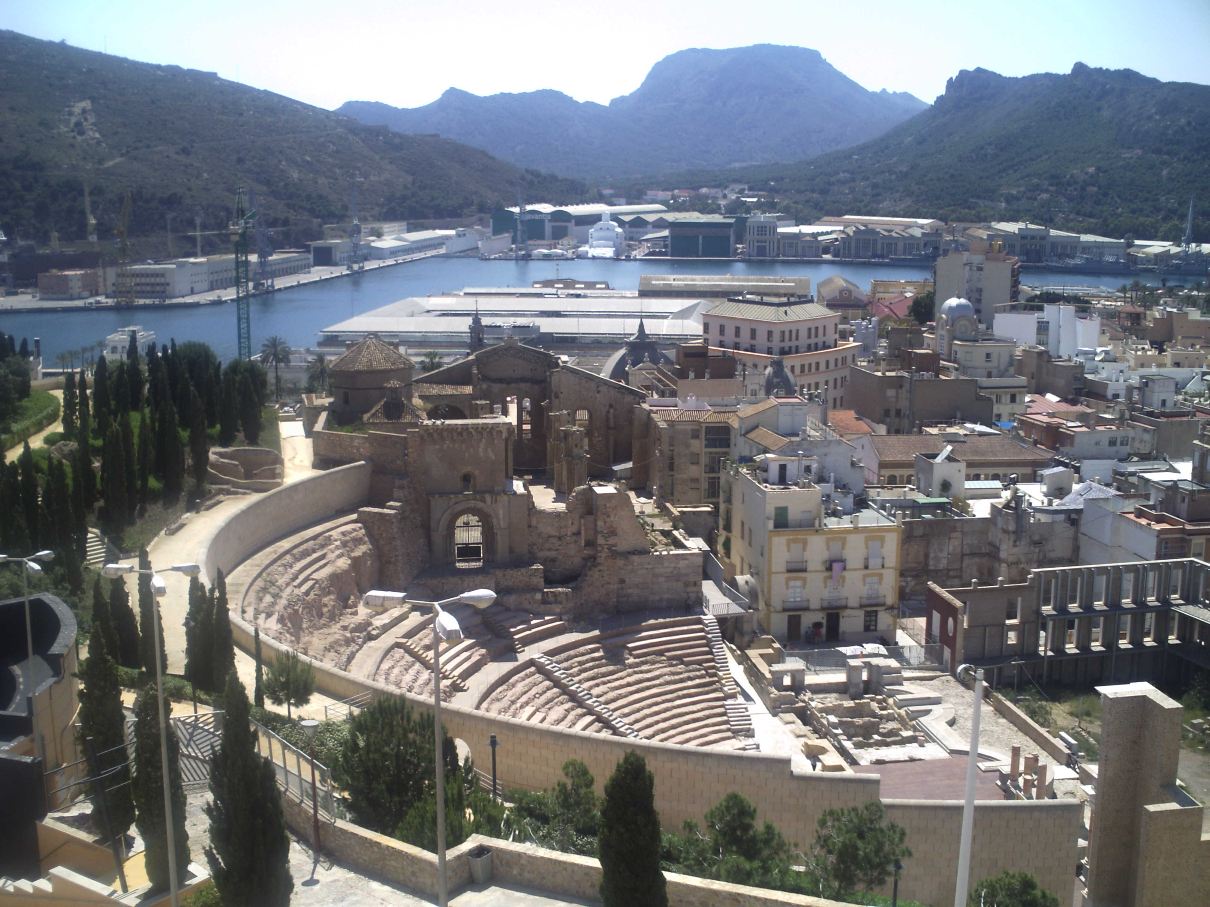 Cartagena Spain  City new picture : Archivo:Teatro romano cartagena 1 Wikipedia, la enciclopedia ...