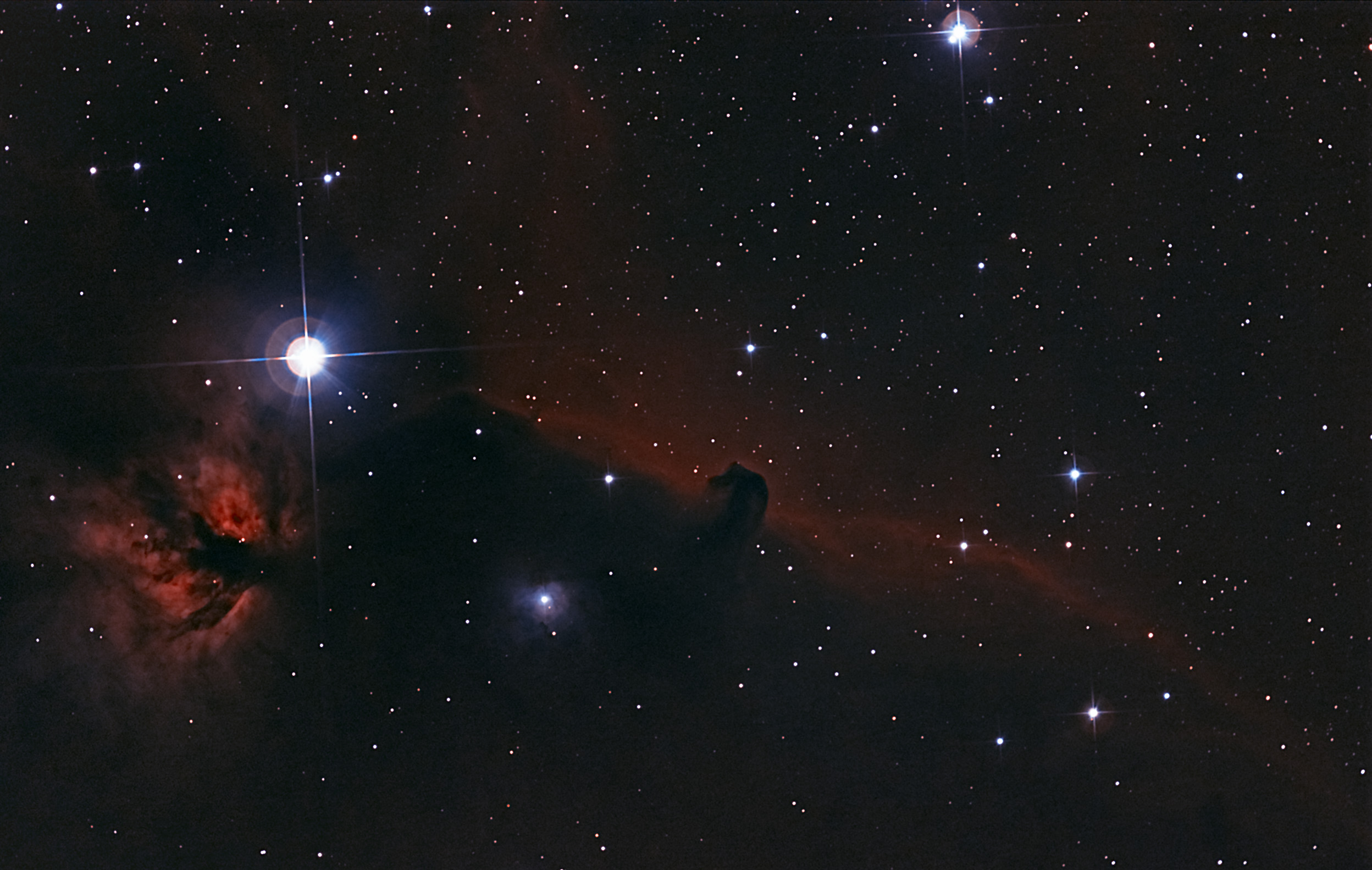 The Horsehead nebula. : space