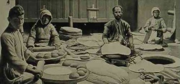 Fabrication du lavash en 1906.