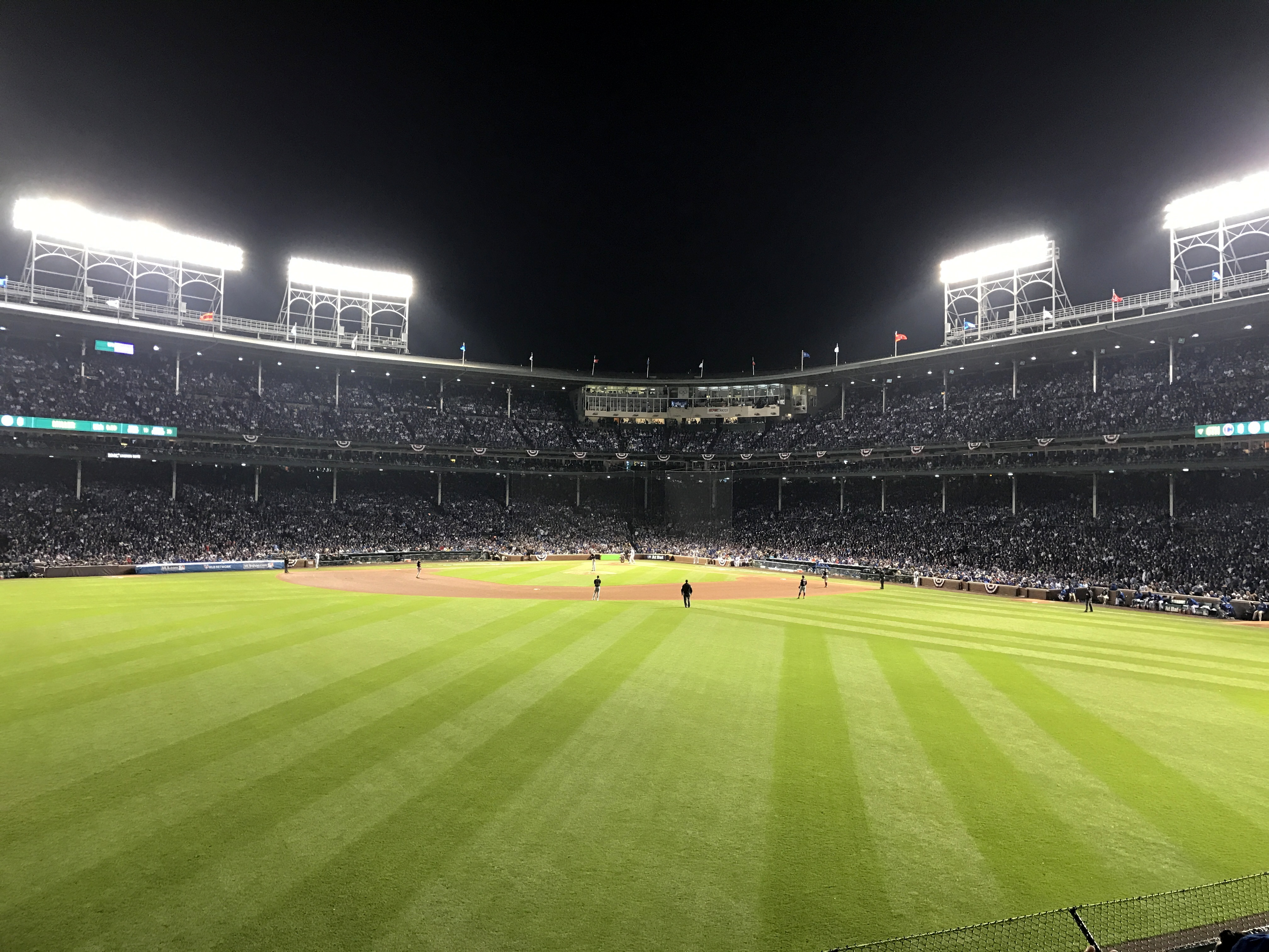 File The view from the bleachers at Wrigley Field during World