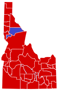 United States presidential election in Idaho County Results, 1952.png