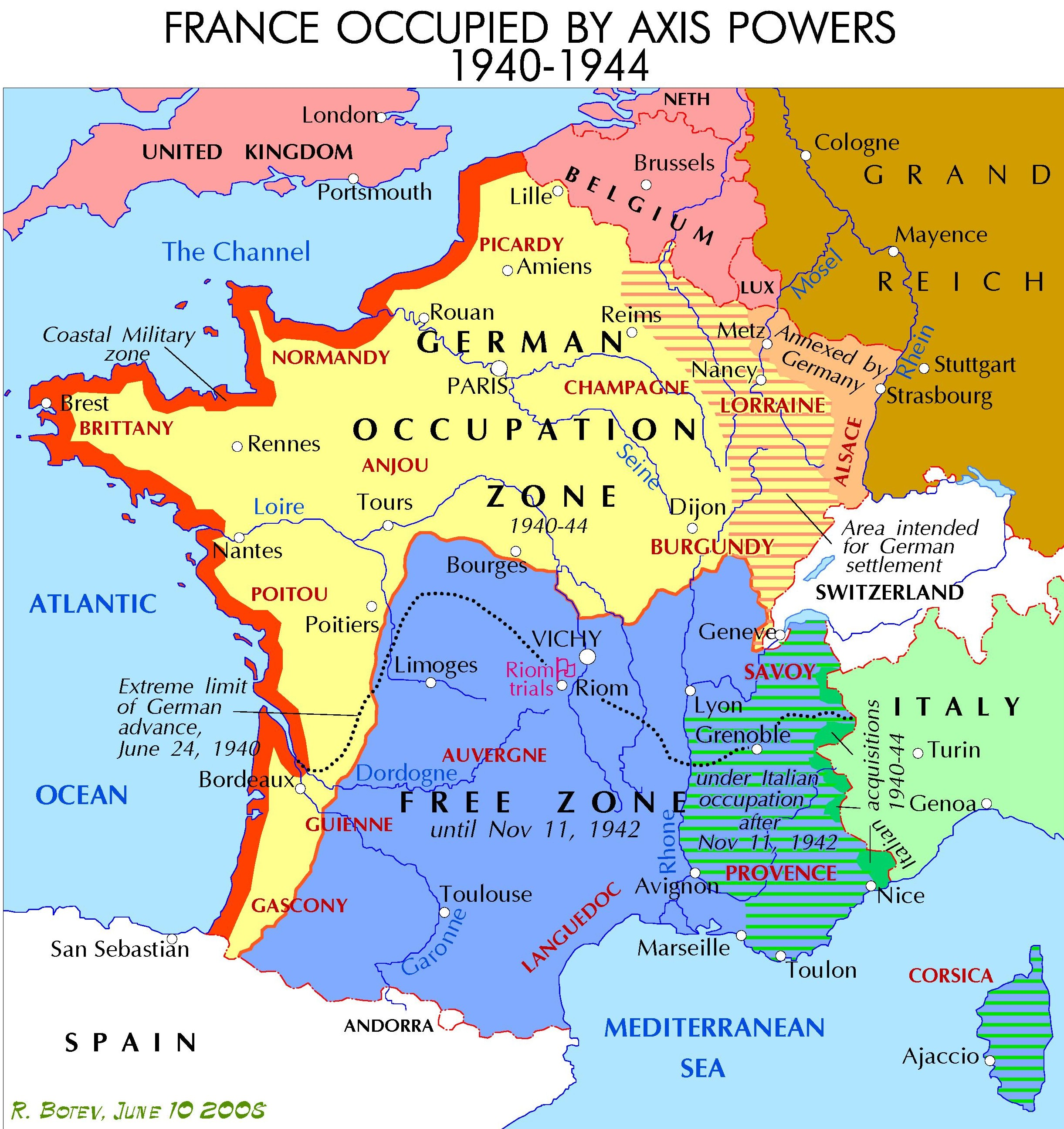 Map Of Germany And France Demarcation line (France)   Wikipedia