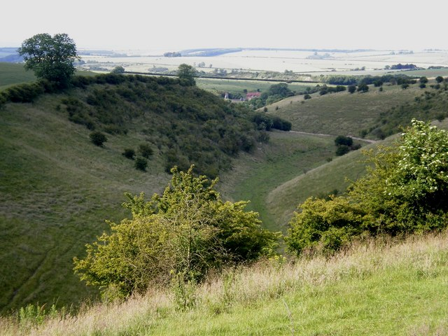 View along Deep Dale to Wharram Percy - geograph.org.uk - 1389495