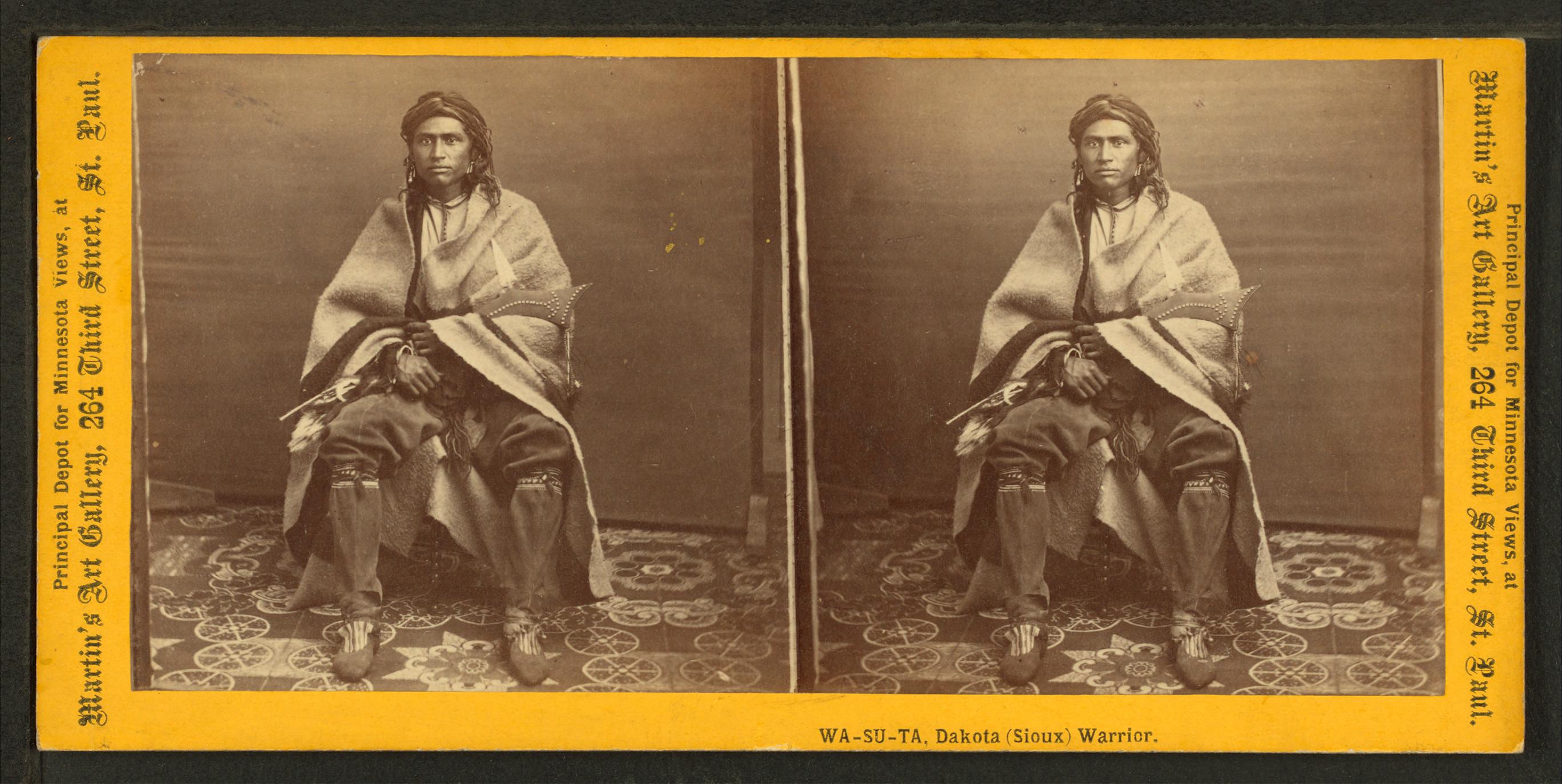 File:Wa-Su-Ta, Dakota (Sioux) warrior, by Martin's Art