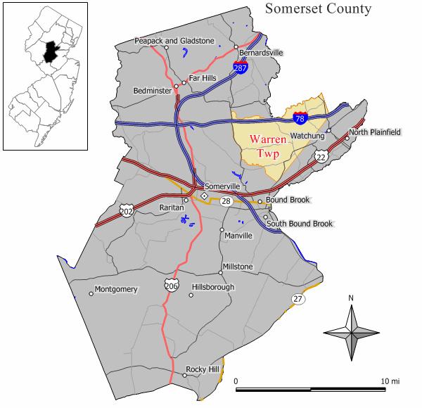 Warren Nj Map Warren Township, New Jersey   Wikipedia Warren Nj Map