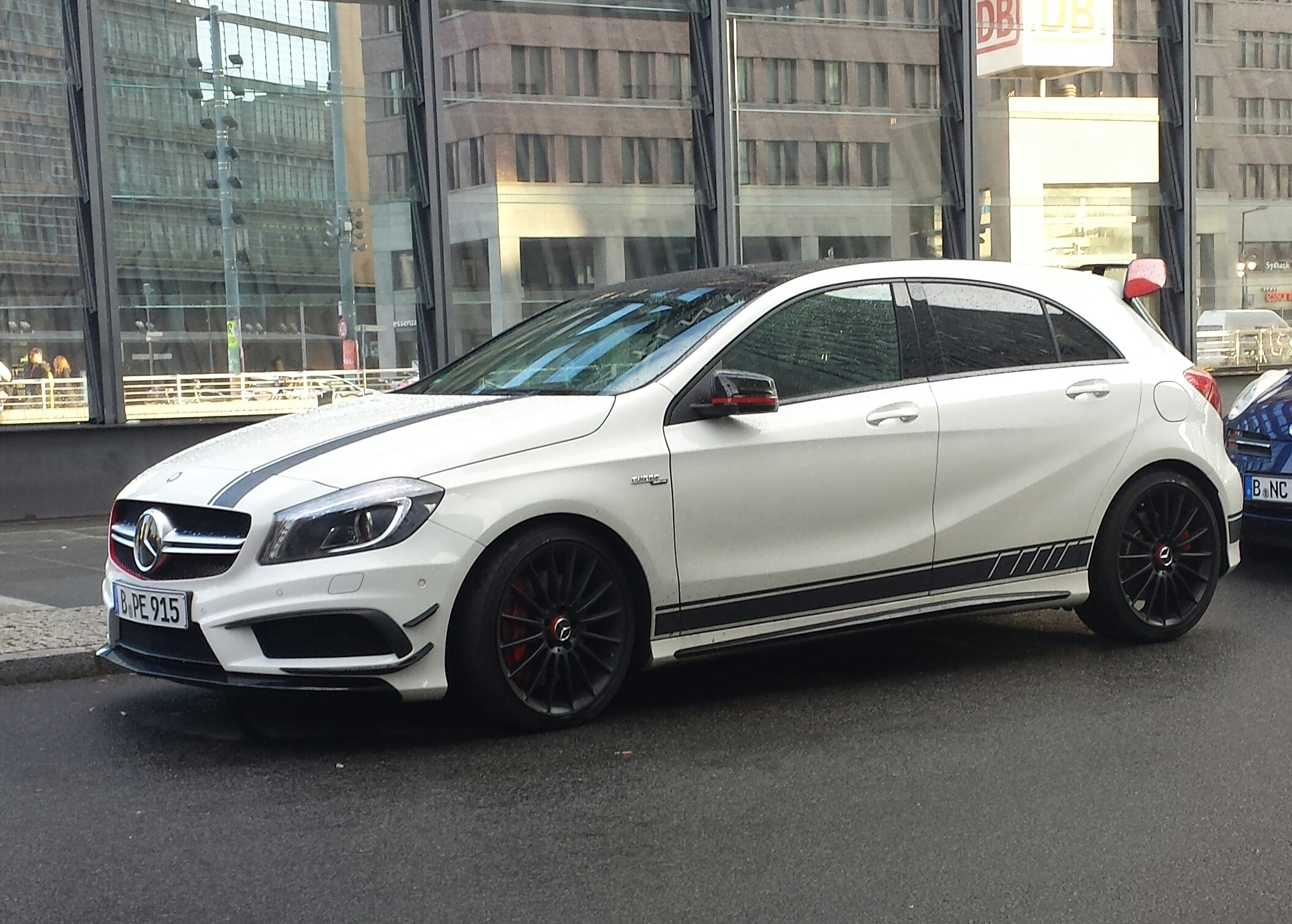 File White Mercedes Benz A 45 AMG Edition 1 Wikimedia mons