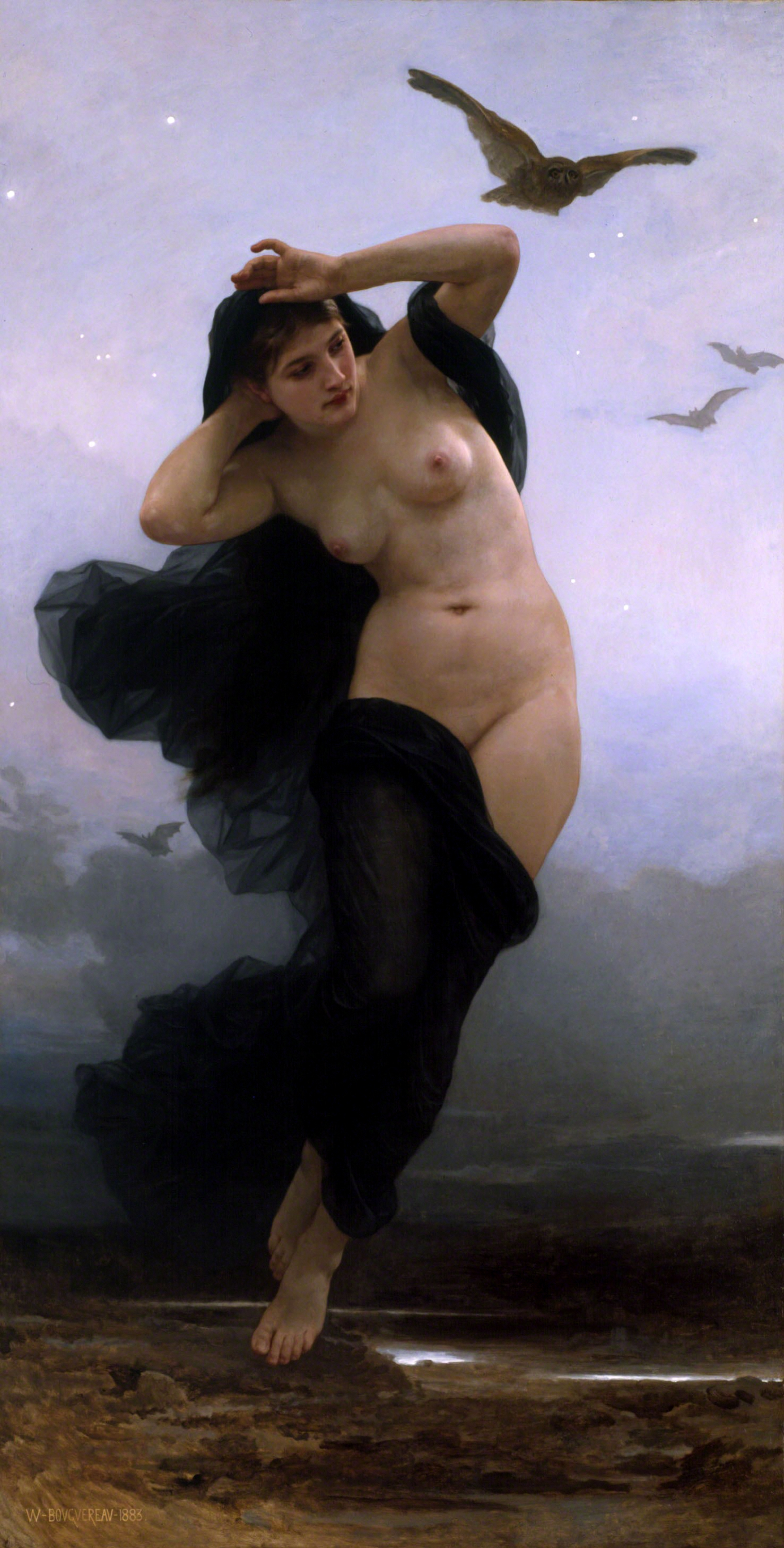 William-Adolphe Bouguereau - La Nuit, 1883
