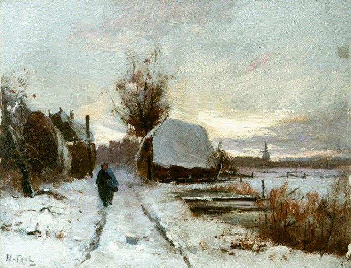 https://upload.wikimedia.org/wikipedia/commons/e/e3/Winterlandschap_door_Hendrik_Otto_van_Thol.jpg
