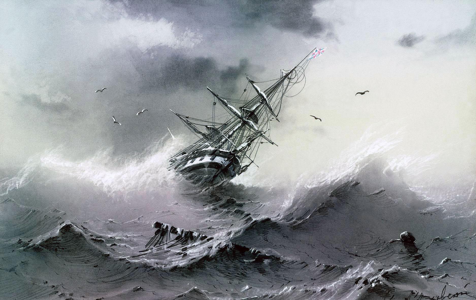 Тонущий корабль - Айвазовский.jpg