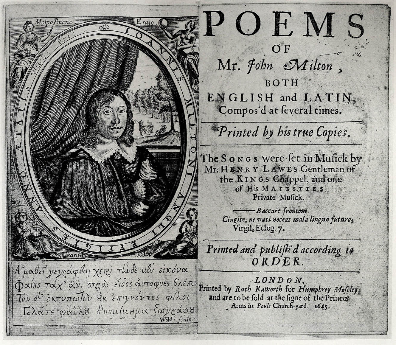 Milton's 1645 Poems