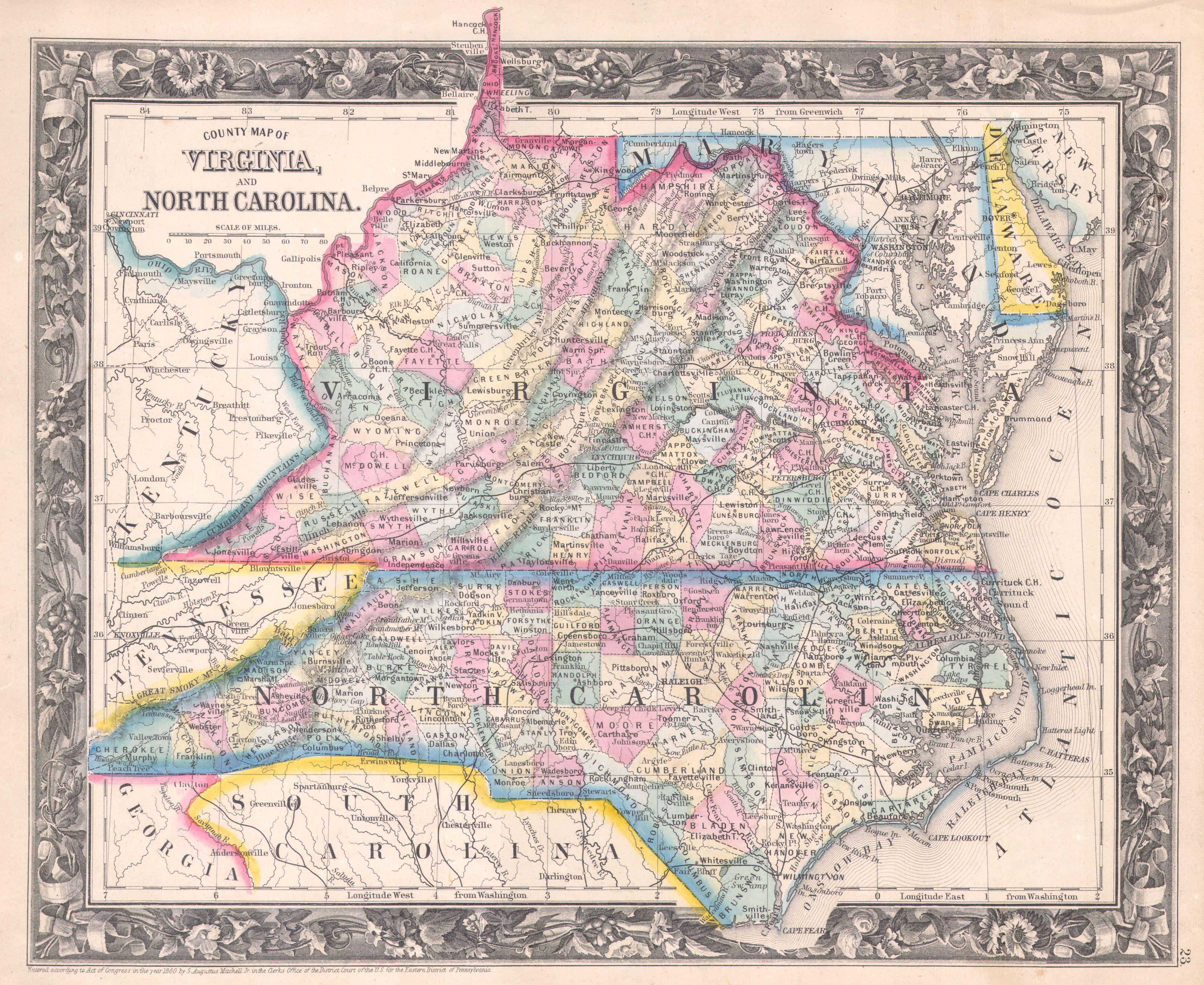 Map North Carolina Images