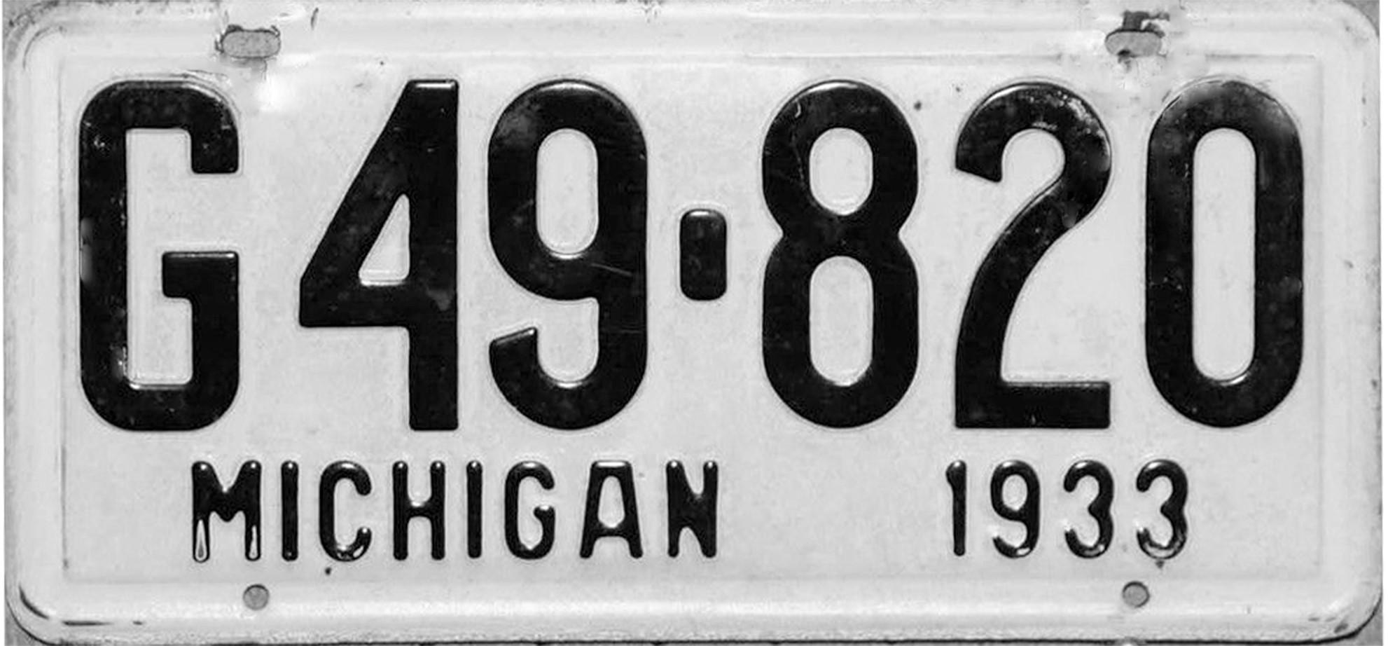 File:1933 Michigan license plate.jpg - Wikimedia Commons