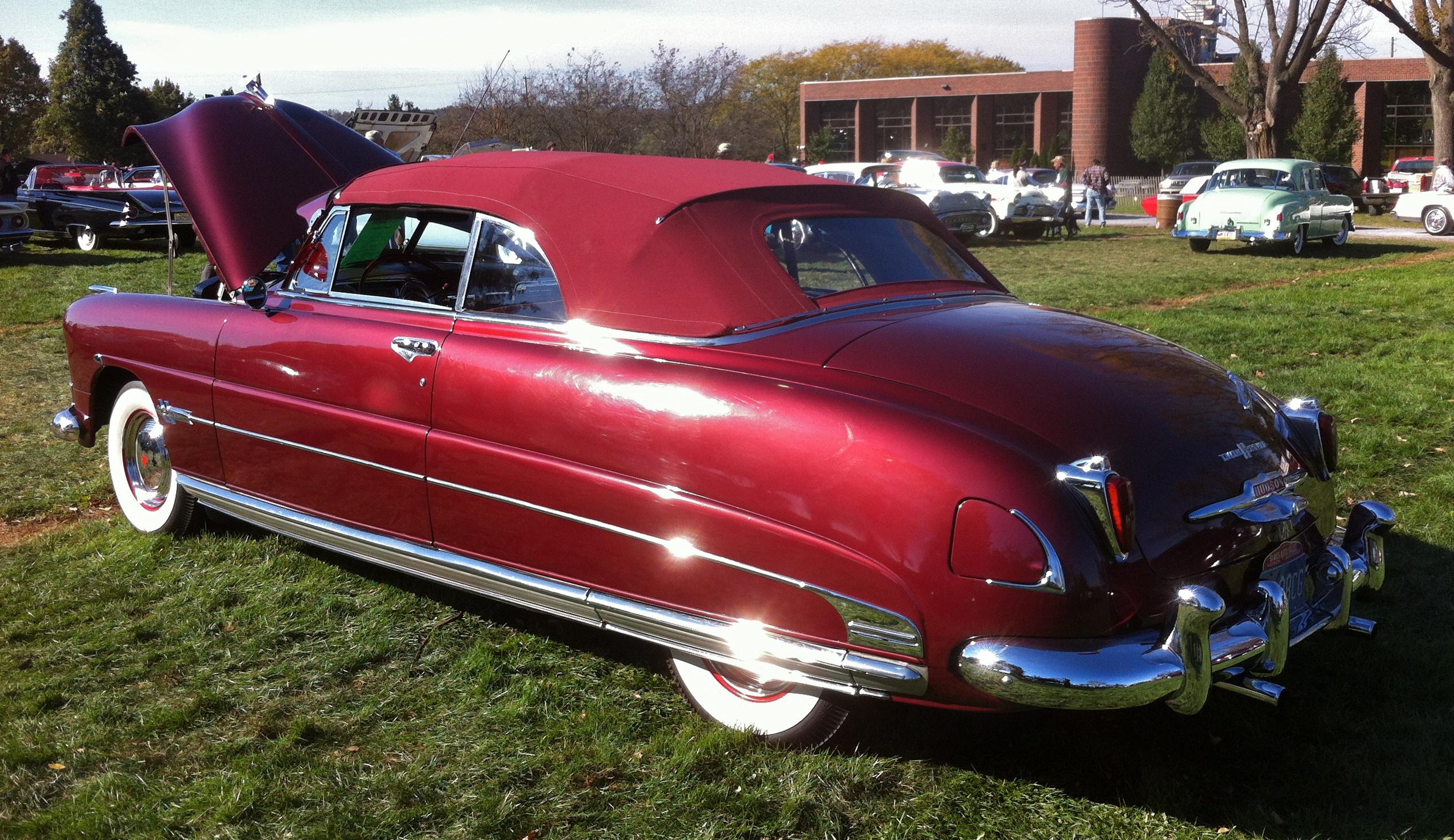 Hershey Car Show >> File:1951 Hudson maroon convertible Hershey 2012 a.jpg - Wikimedia Commons