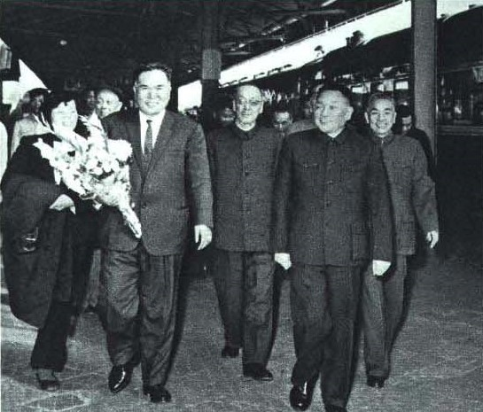 File:1965-3 1965年1月 日本共产党主席宫本显治访问中国,邓小平在广州接待.jpg