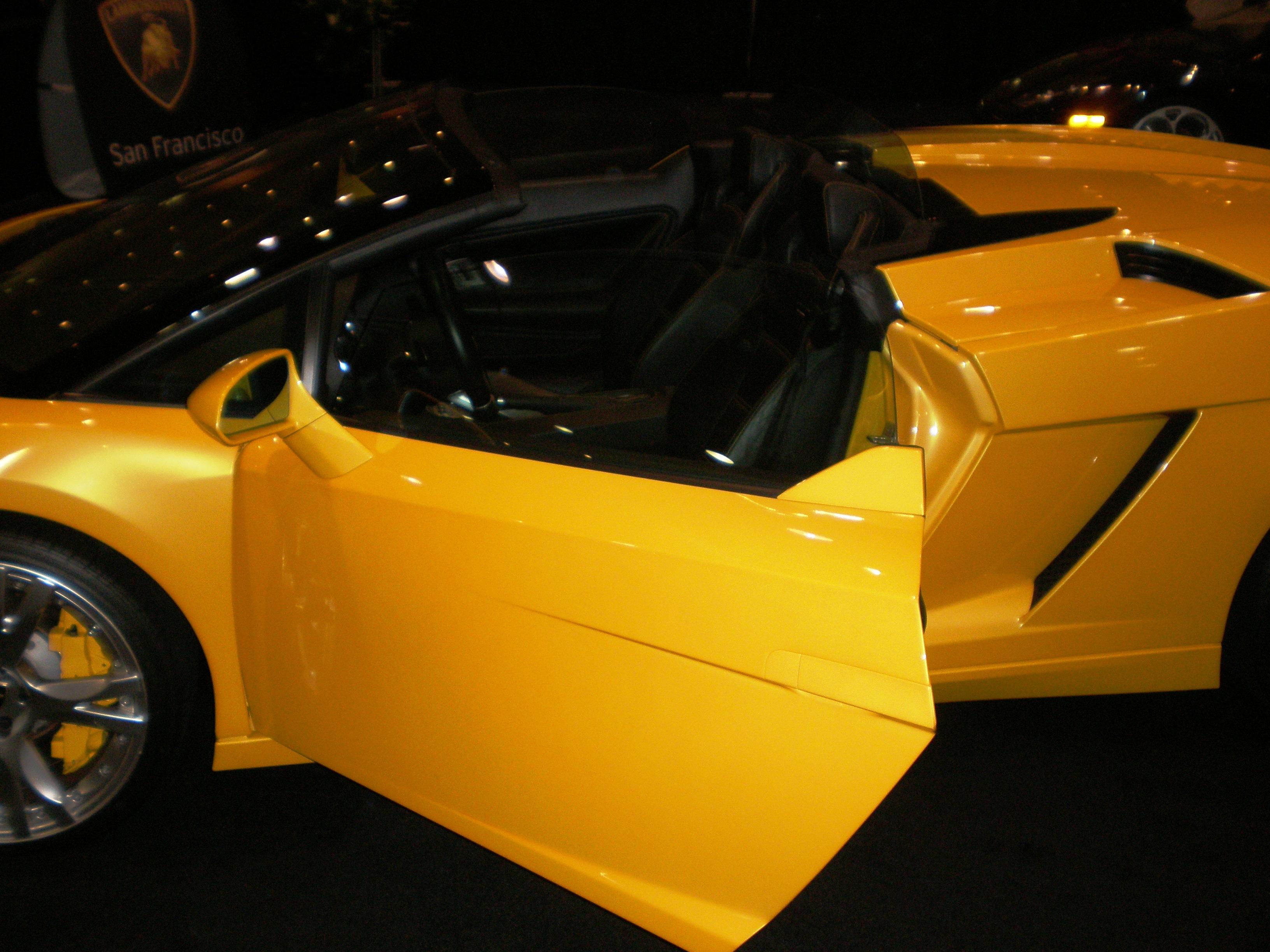 File 2007 Yellow Lamborghini Gallardo Spyder Driver S Side