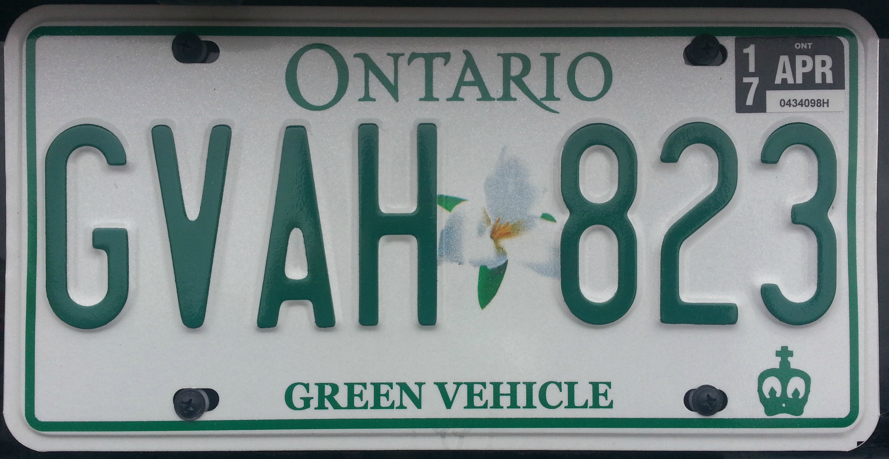 File:2010 Ontario license plate GVAH 823 electric vehicle.png ...