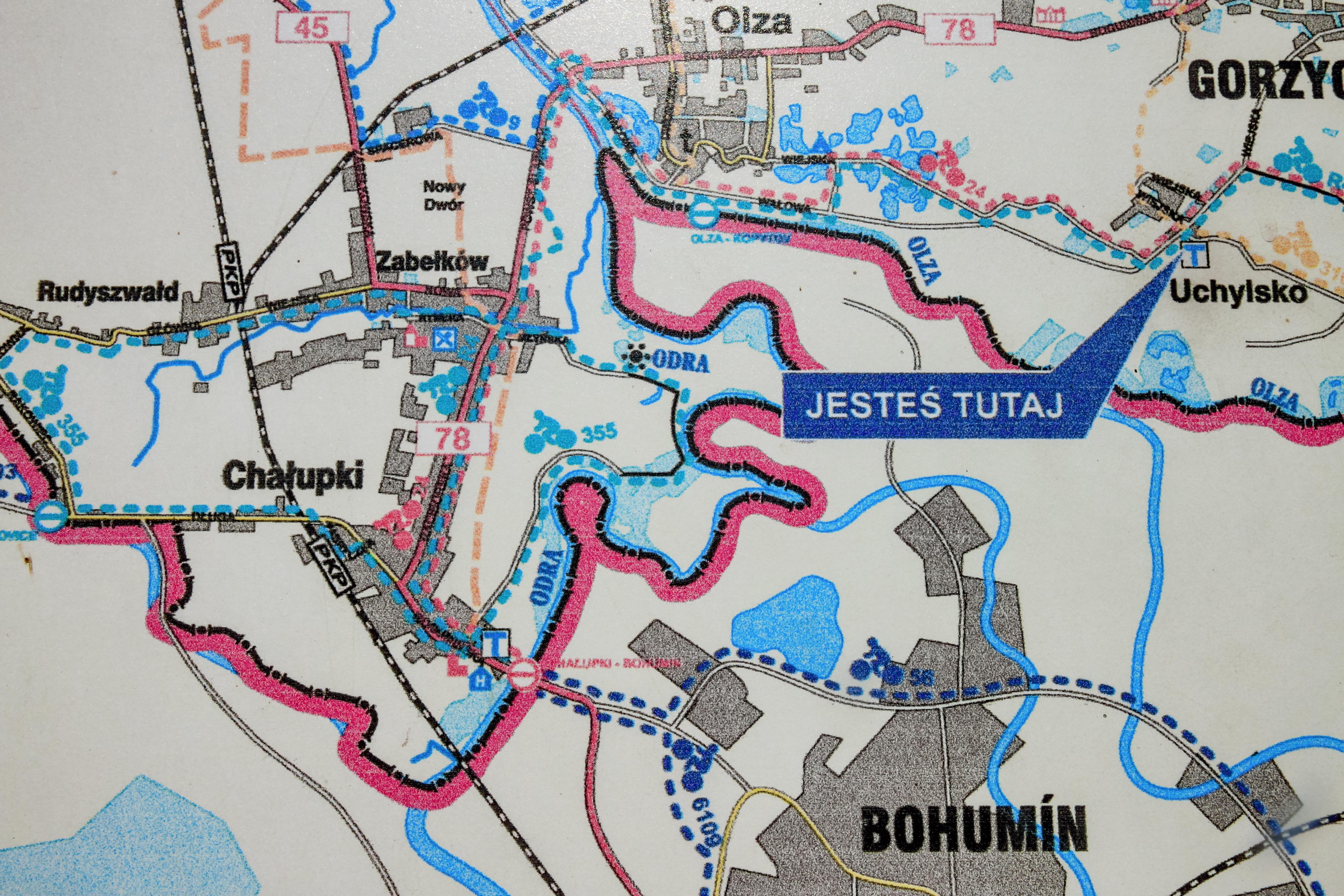 File 2012 Powiat Wodzislawski Uchylsko Mapa Szlakow Rowerowych