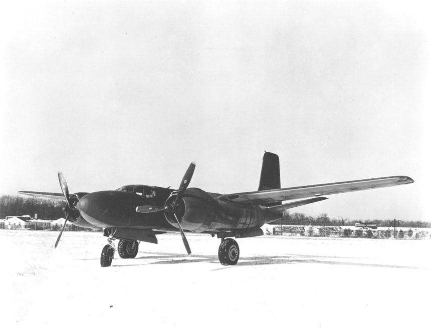 駐機中のA-26B