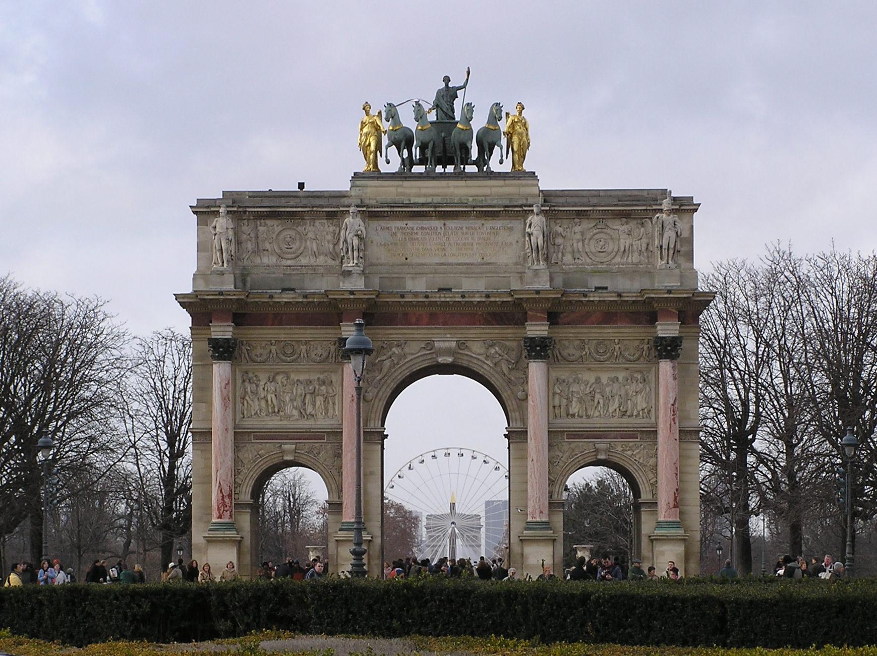 Veni vidi vici arco del triunfo del carrusel - Arcos de jardin ...