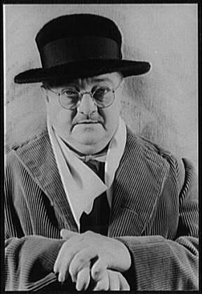 Woollcott in 1939 photographed by Carl Van Vechten