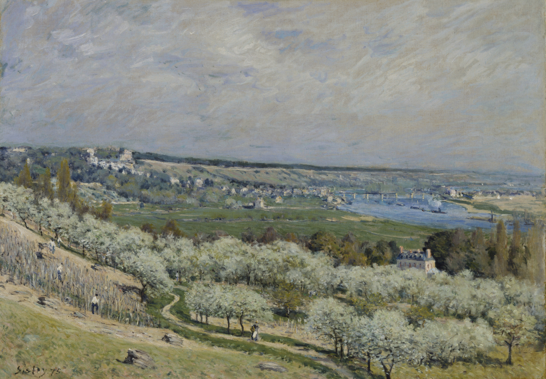 File alfred sisley the terrace at saint germain spring for At the terrace