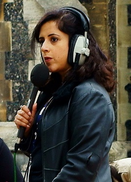 Anita Anand during an outside broadcast