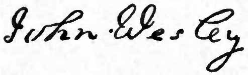 English: Signature of John Wesley, founder of ...