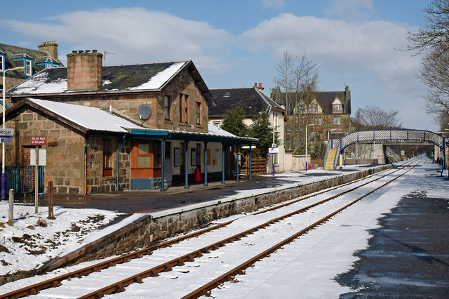 Ardgay Station after a Snowfall - geograph.org.uk - 723950