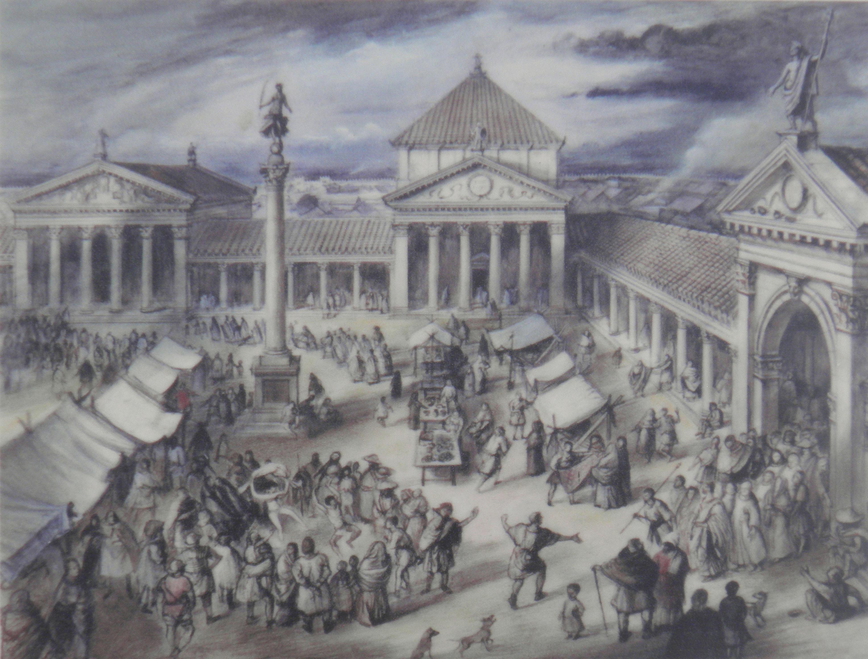 File:Artist impression of the Forum of Verulamium