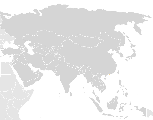 Asia Map Blank
