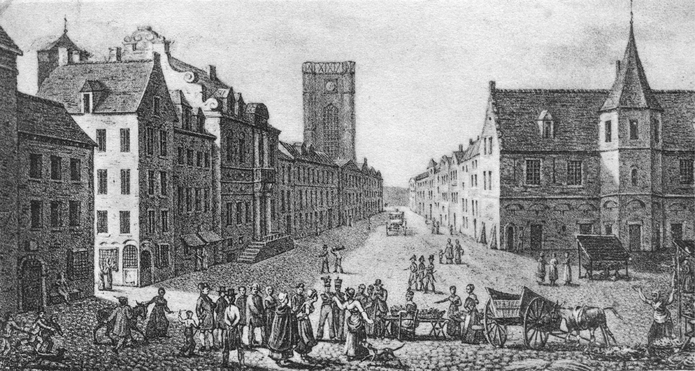 Place dAth entre 1817 et 1821 (Jean-Baptiste Madou) - Postkaart uit het begin van de 20ste eeuw