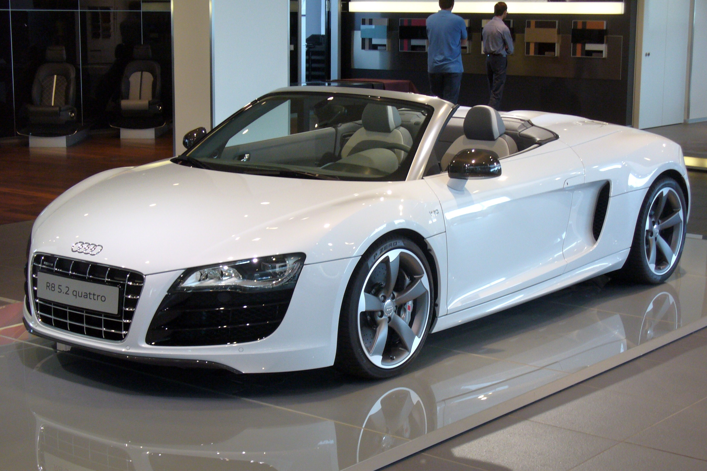 Audi r8 v10 plus spyder top speed