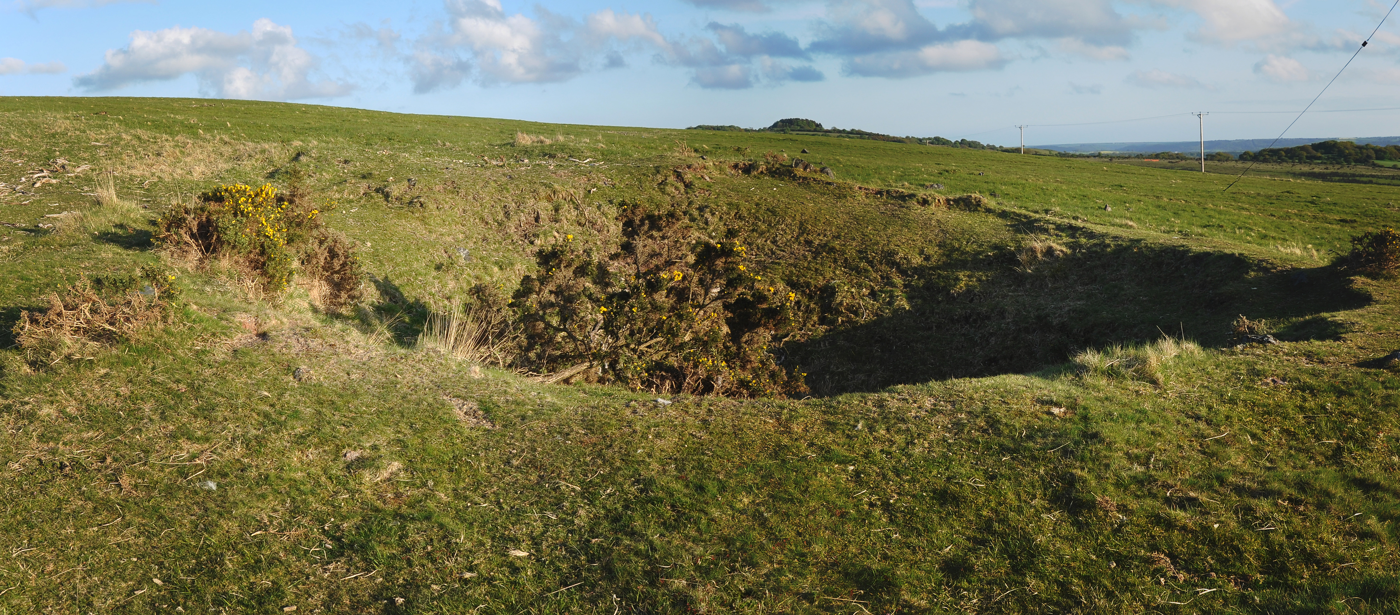File Bomb Crater On Crownhill Down Jpg