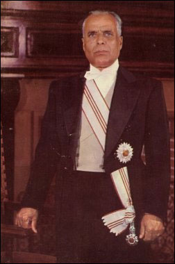Official photo of Tunisian president Habib Bou...