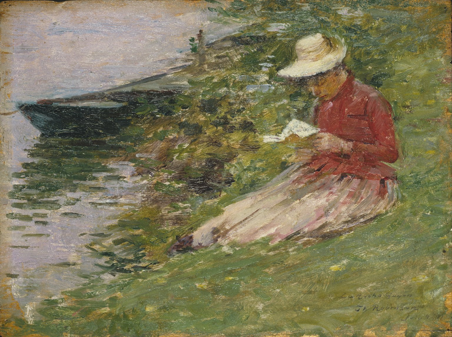 Brooklyn Museum - La Roche Guyon (painting) - Theodore Robinson